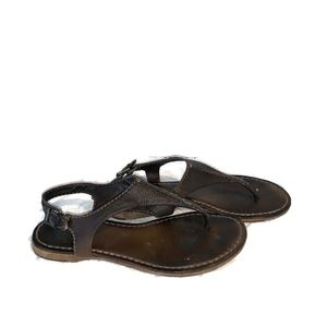 Frye Women's Sz 7.5 Brown Leather Thong Sandals